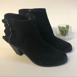 Sam Edelman Black Leather Lucca Ankle Booties 8